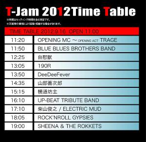 Tjam2012timetable